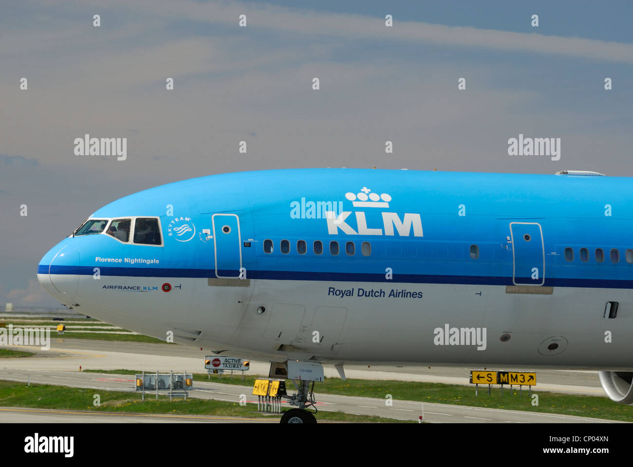 KLM Royal Dutchman PH-KCD Mcdonnell Douglas MD II  arriving at the Vancouver International airport. - Stock Image