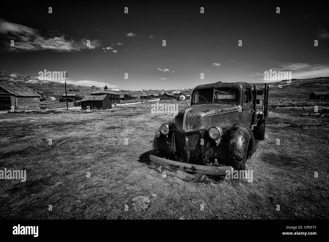 Car wreck at Bodie Ghosttown, California, USA - Stock Image