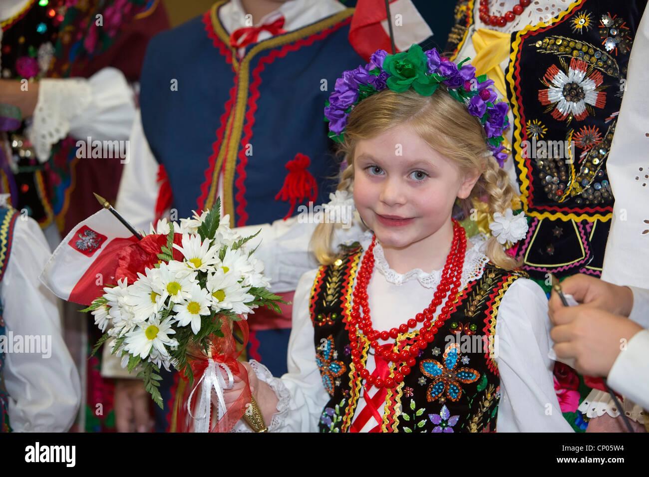 Polish Dance Troupe - Stock Image