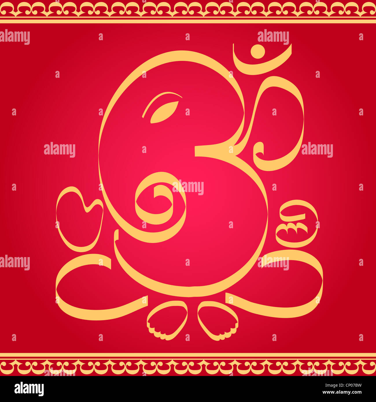 Indian God Om Ganesha Design Stock Photos Indian God Om Ganesha