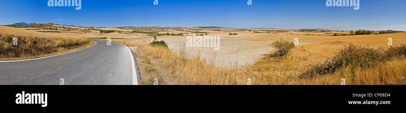 landscape near Sansol, Spain, Basque country, Navarra - Stock Image