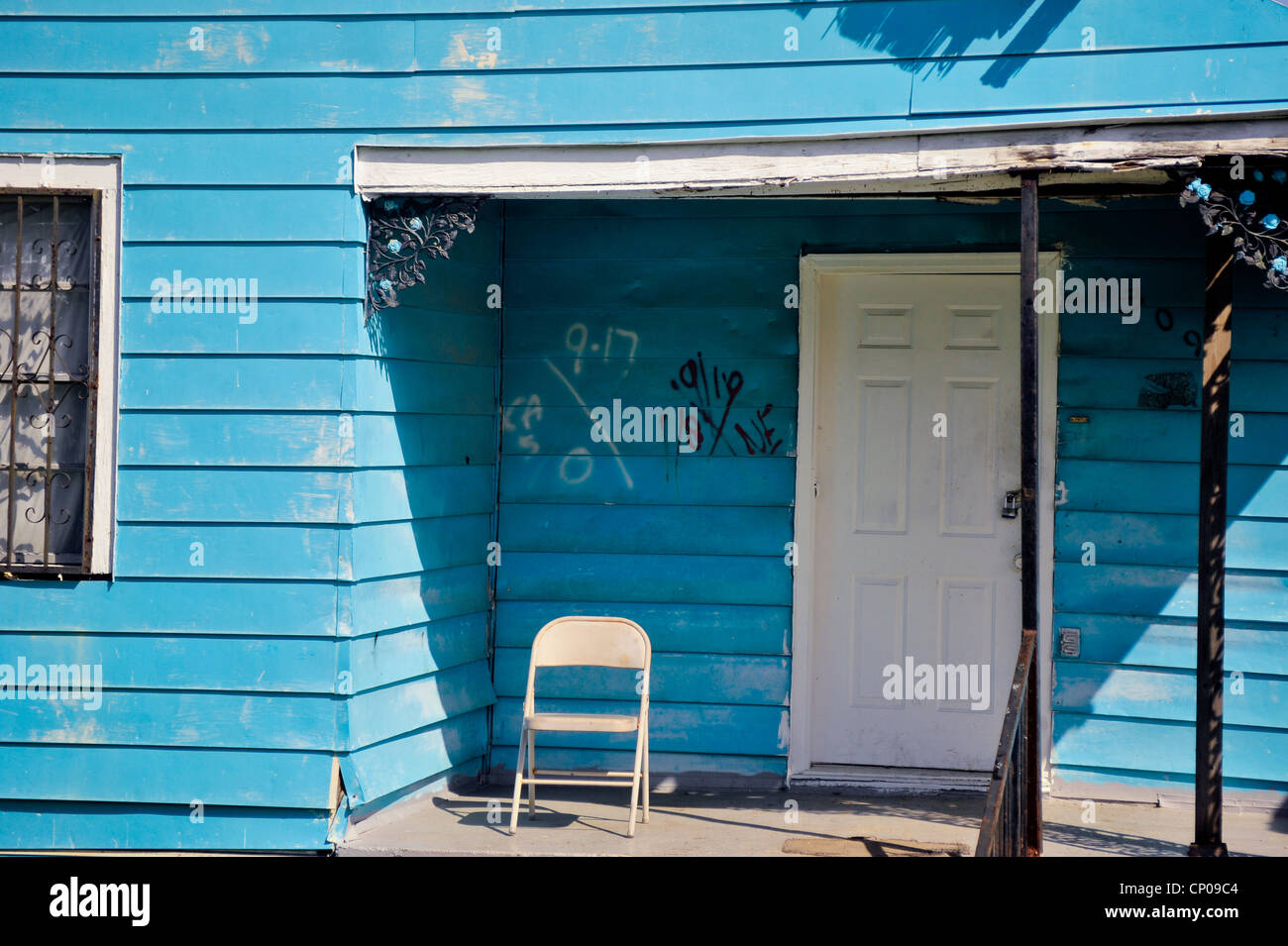 Abandoned House from hurricane Katrina in the lower ninth ward - Stock Image