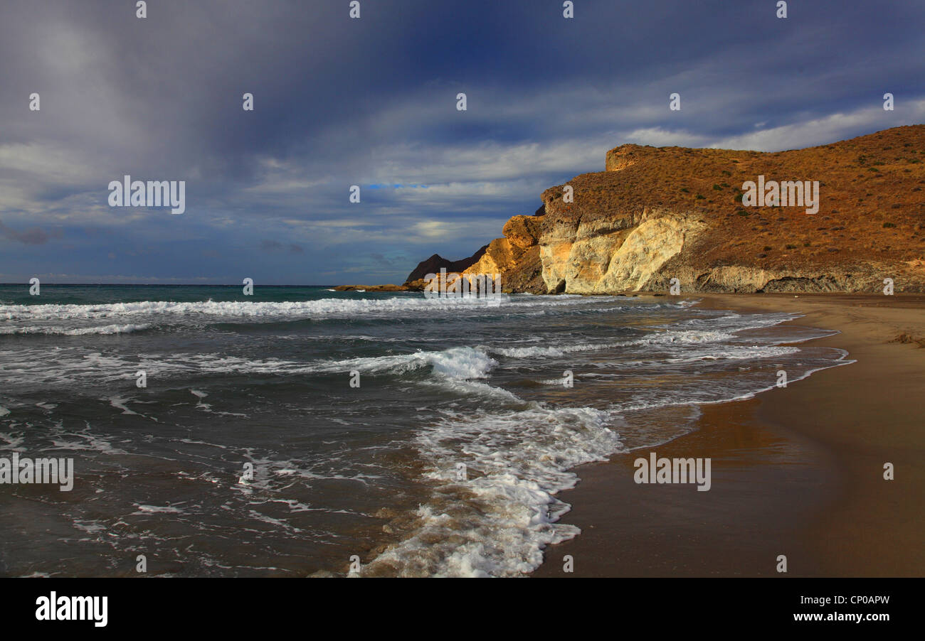 coast of Cabo de Gata, Spain, San Jose - Stock Image