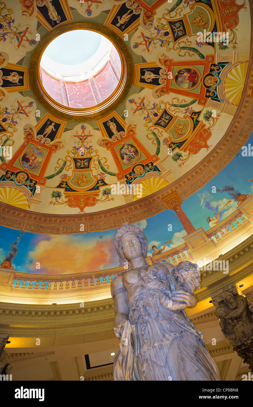Dame Fortune Statue inside Caesar's Palace Hotel Resort and Casino - Stock Image