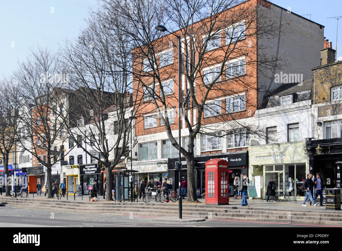Upper Street shops and business premises - Stock Image