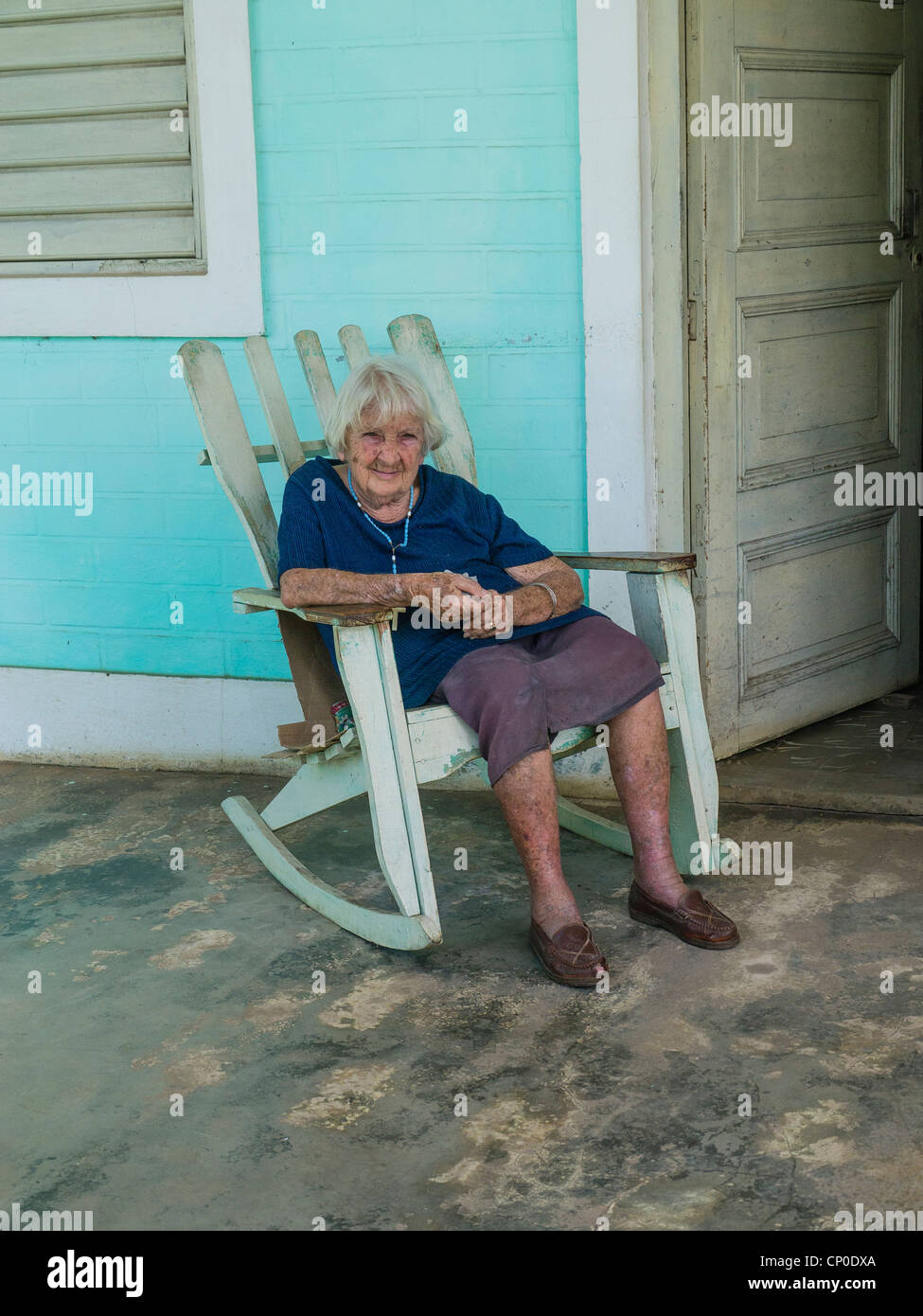 A 70-80 year old Cuban Hispanic woman with gray hair sits on her rocking  sc 1 st  Alamy & Old Woman Rocking Chair Stock Photos u0026 Old Woman Rocking Chair Stock ...