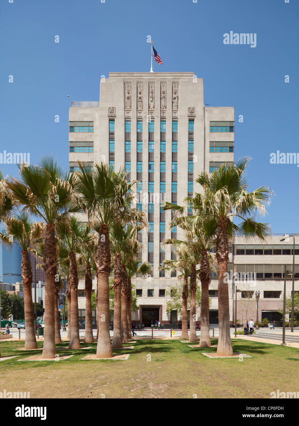 Los Angeles Times Editorial Library - Stock Image