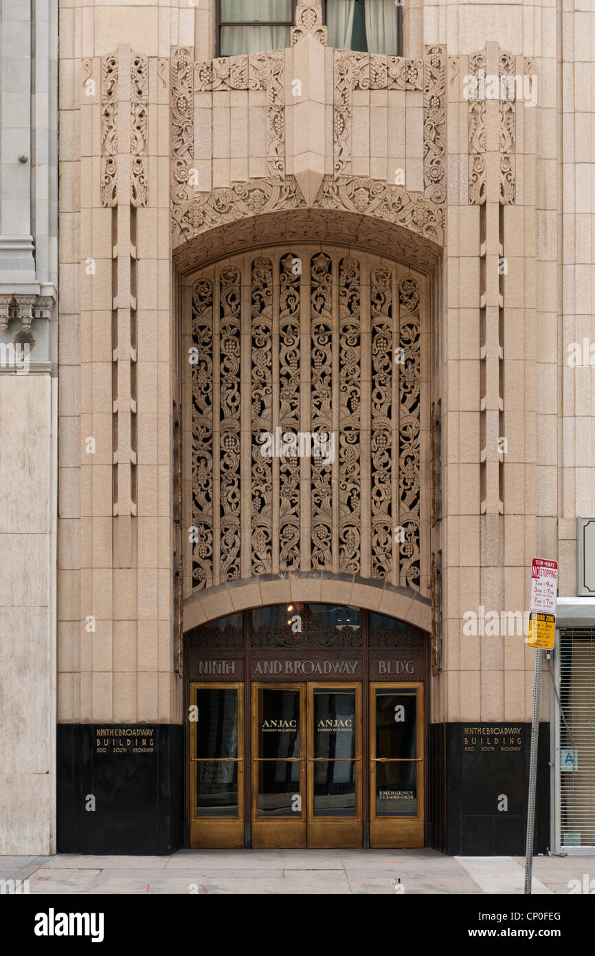 Ninth and Broadway Building, Los Angeles - Stock Image