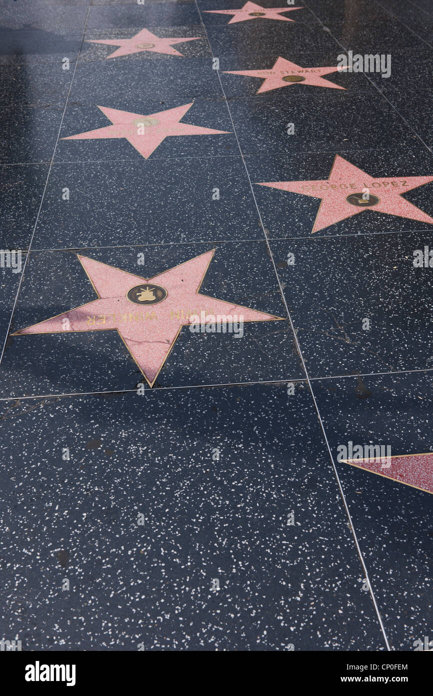 Hollywood Walk of Fame, Los Angeles - Stock Image