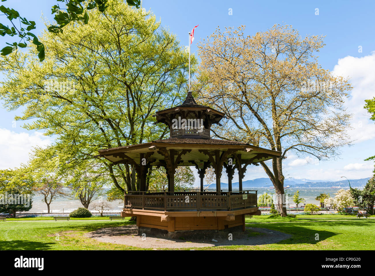 Haywood Bandstand, Alexandra Park, Vancouver - Stock Image