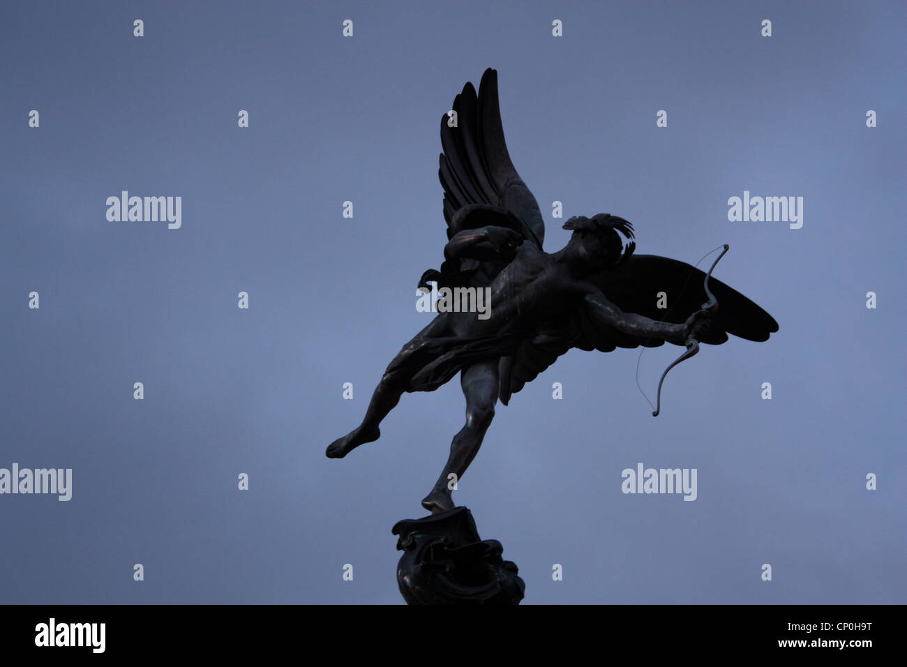anteros statue in Piccadilly Circus - Stock Image
