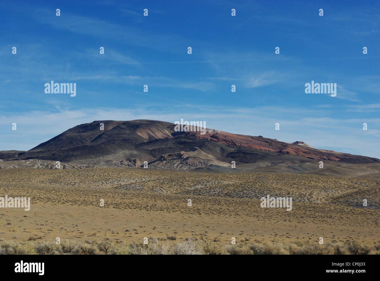 Desert hills near Basalt, Nevada - Stock Image