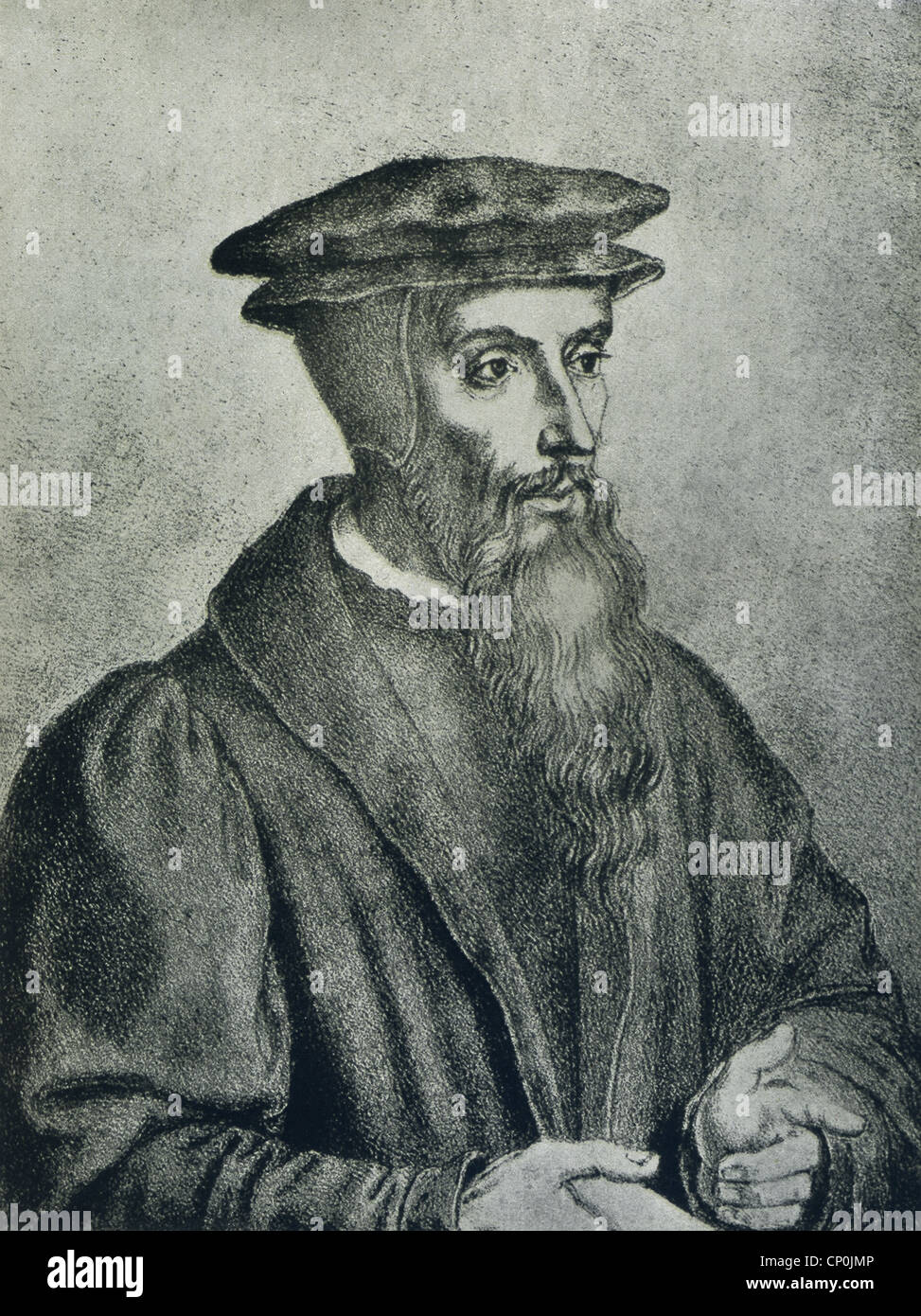 Johann Calvin (1509-1564) was a French theologian during the Reformation. - Stock Image