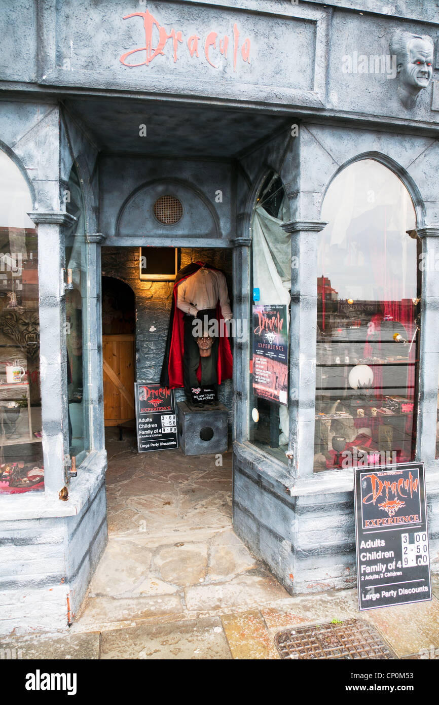 Whitby Town, North Yorkshire, UK, England Bram Stoker's Dracula experience scare fest - Stock Image