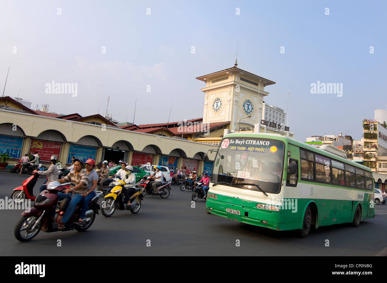 Covered Public Bus Transport Hub Stock Photos & Covered Public Bus