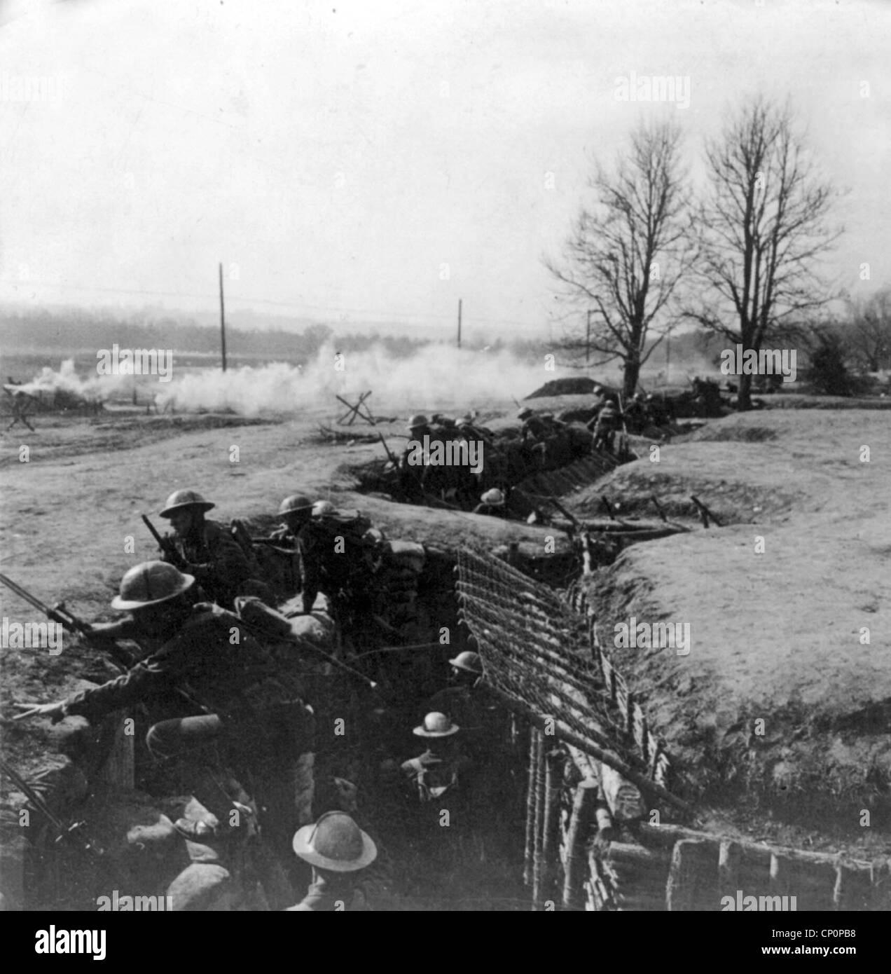 British trench, World War One Stock Photo