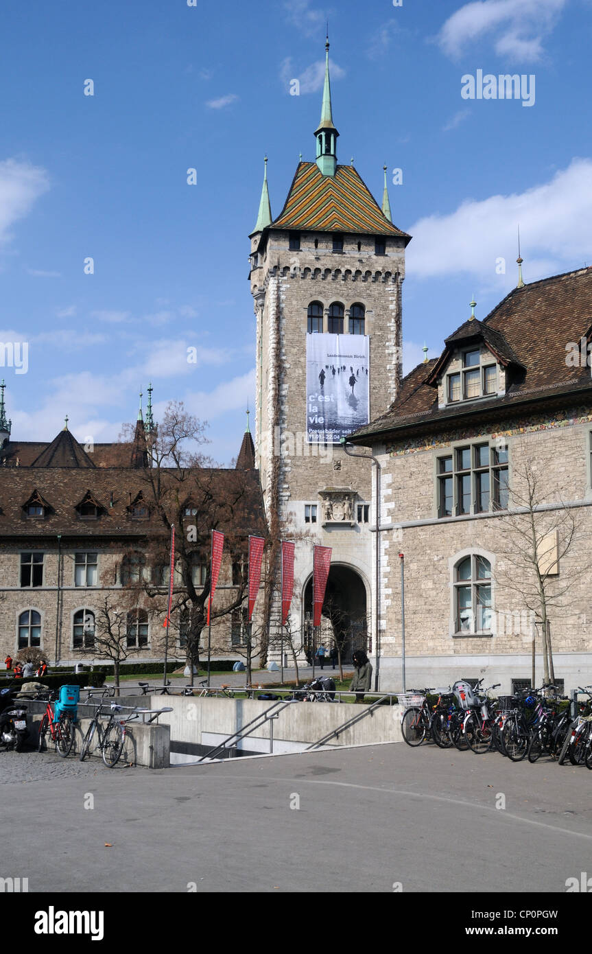The Landesmuseum (Swiss National Museum) in Zurich, Canton of Zurich, Switzerland - Stock Image