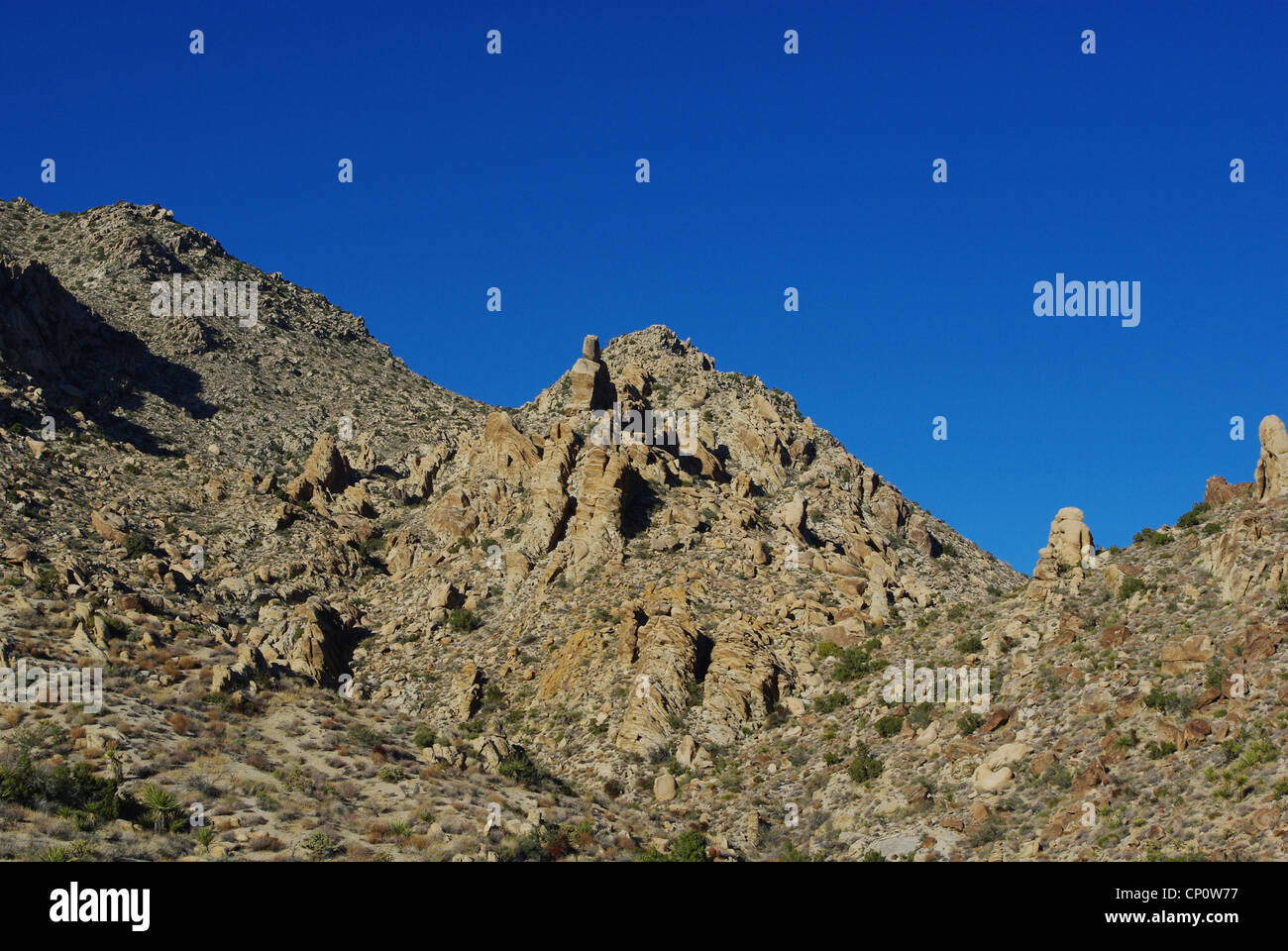 Interesting rock formations and blue sky, Nevada - Stock Image