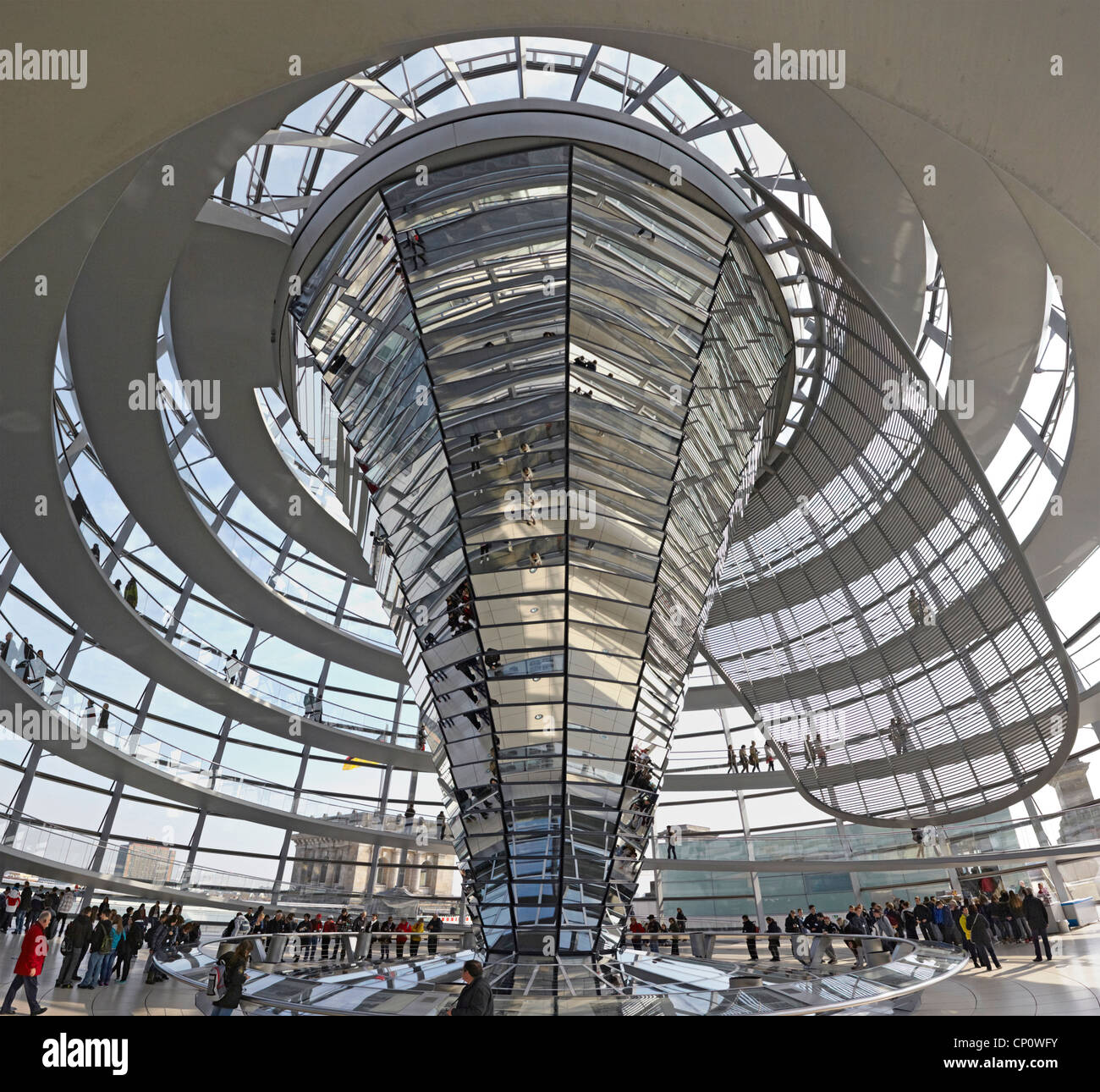 Berlin Reichstag inside the dome - Stock Image