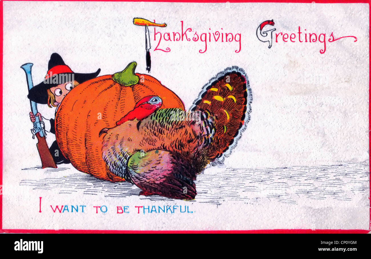 Thanksgiving Greetings I Want To Be Thankful Turkey Hiding Behind Stock Photo Alamy