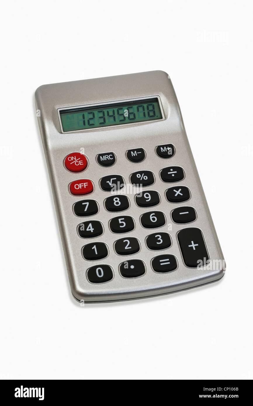 Detailansicht eines Taschenrechners | Detail photo of a pocket calculator - Stock Image