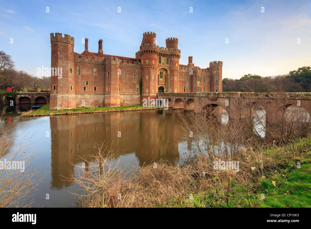 Herstmonceux Castle in East Sussex - Stock Image