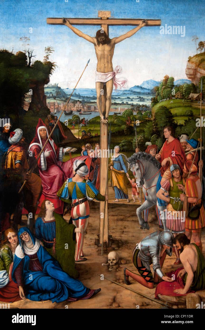 Crucifixion Jesus Christ 1503 by SOLARIO Andrea 1460-1520 Italy Italian
