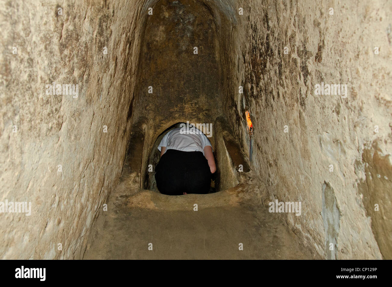 vietnam cu chi cu chi tunnels 200 km long tunnel complex used stock photo 47966962 alamy. Black Bedroom Furniture Sets. Home Design Ideas