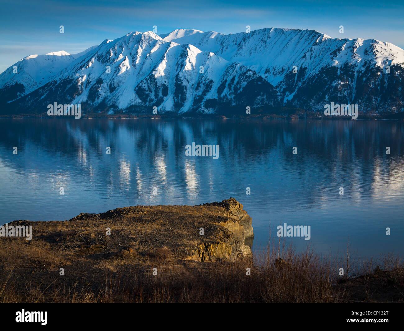 Mountains along the Turnagain Arm near Anchorage, Alaska. - Stock Image
