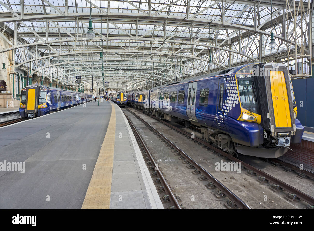 New Scotrail Class 380 EMU in Glasgow Central Station at platforms 12, 13 and 14 - Stock Image