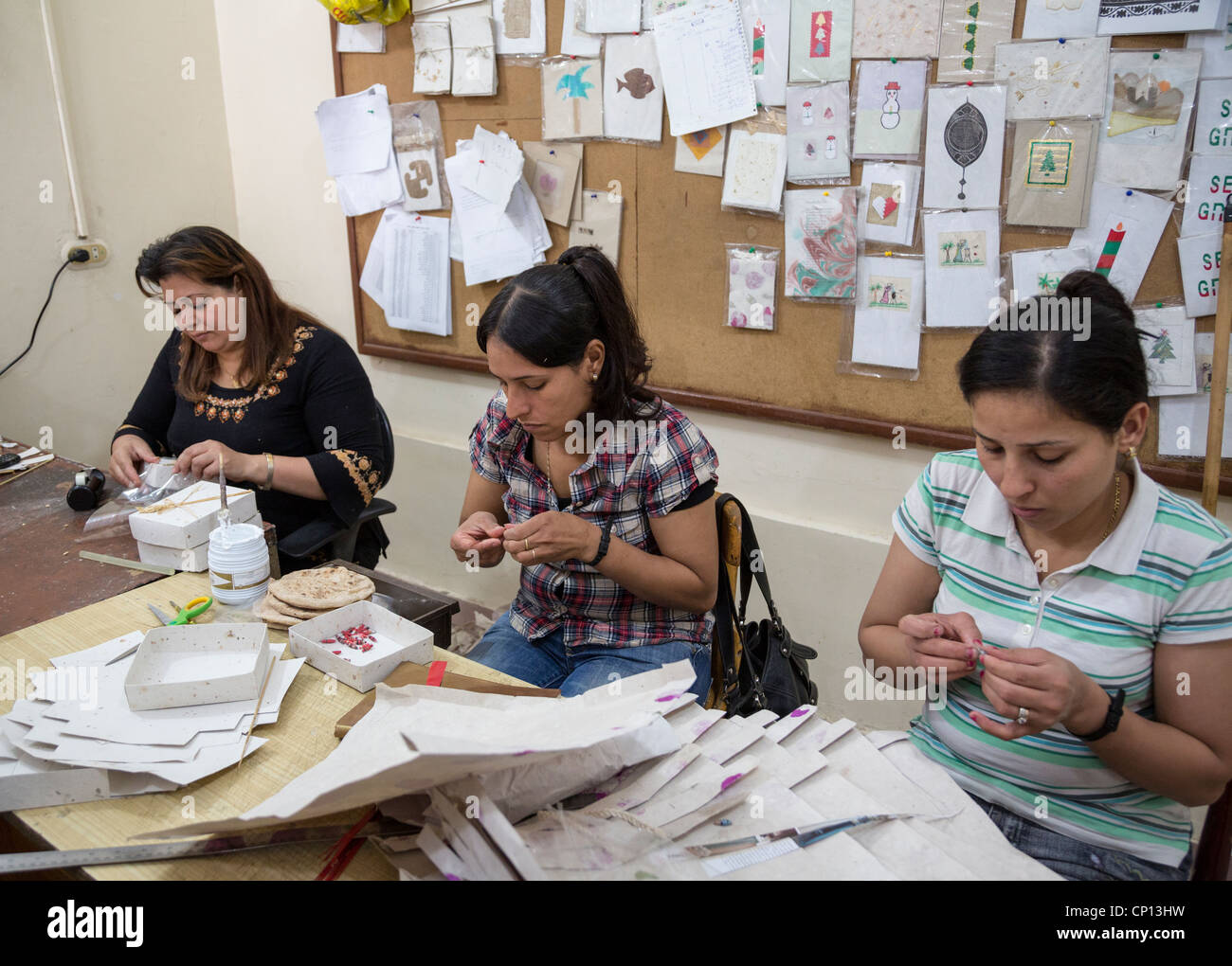 recycling of paper products to make jewellry by the zabaleen