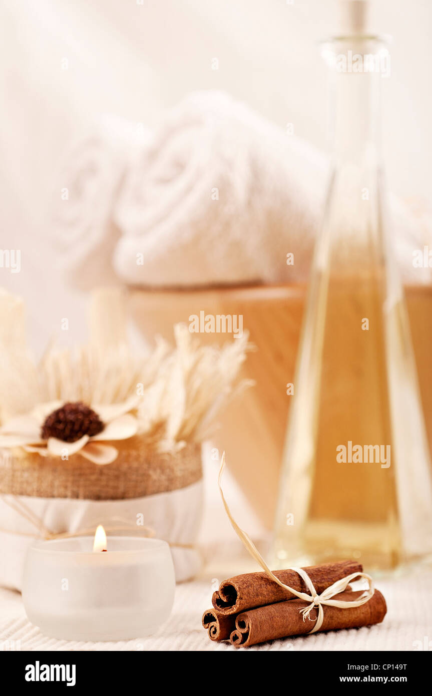 Home spa- aroma therapy set - Stock Image