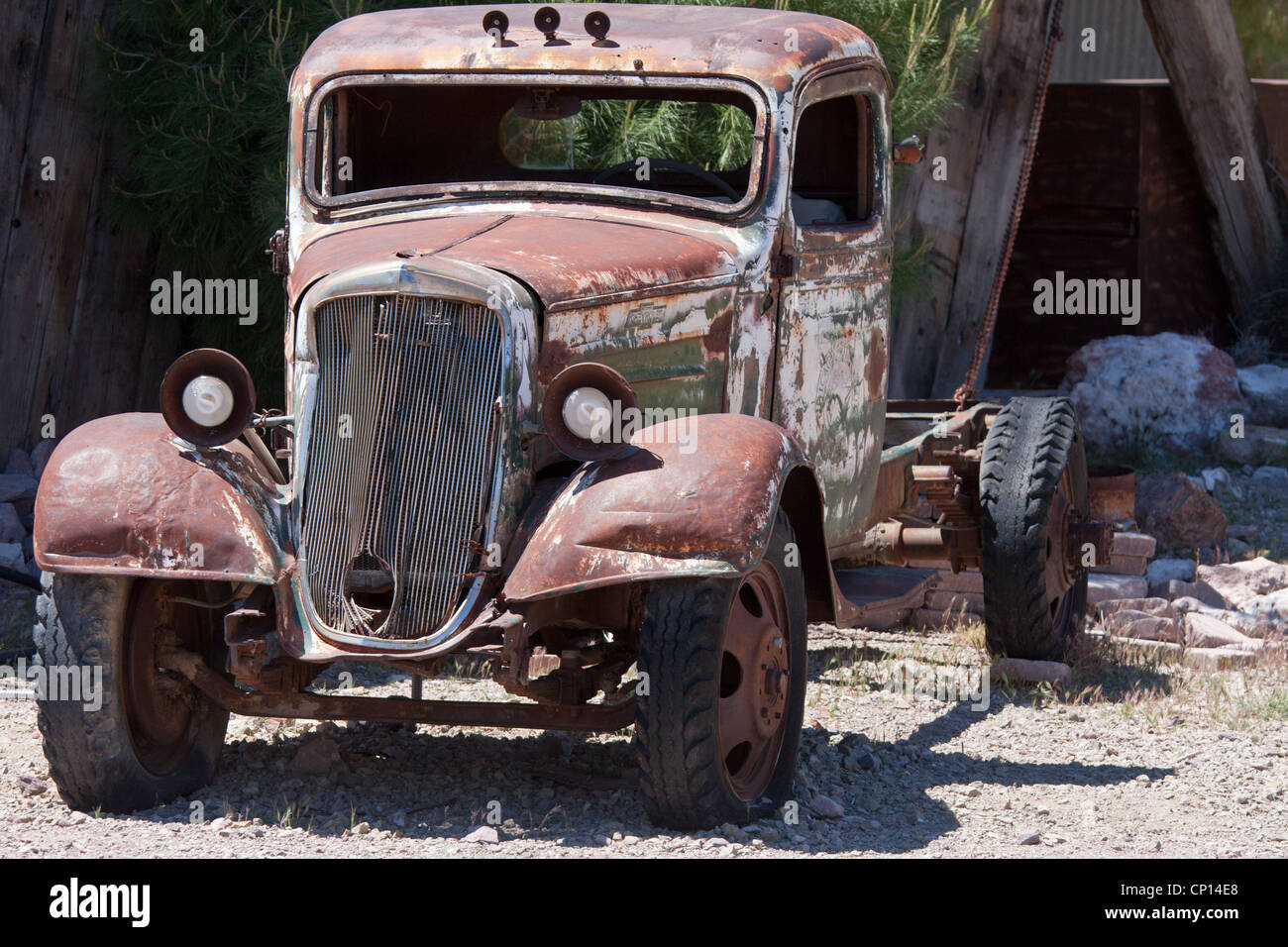 old junk car in the nevada desert in Nelson, Eldorado Canyon Stock ...