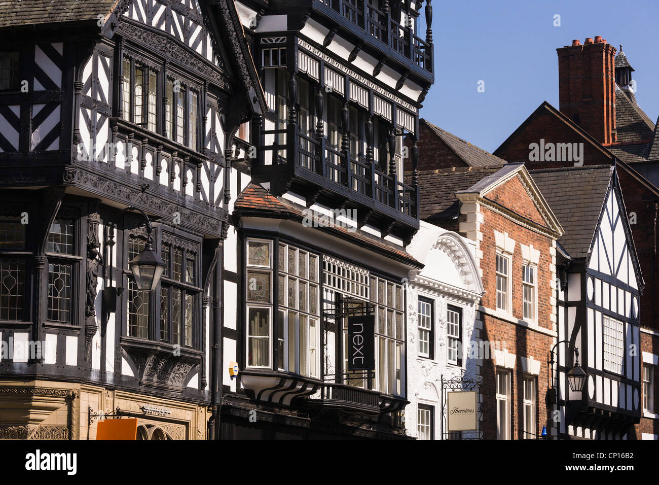 Half-timbered buildings, Chester - Stock Image
