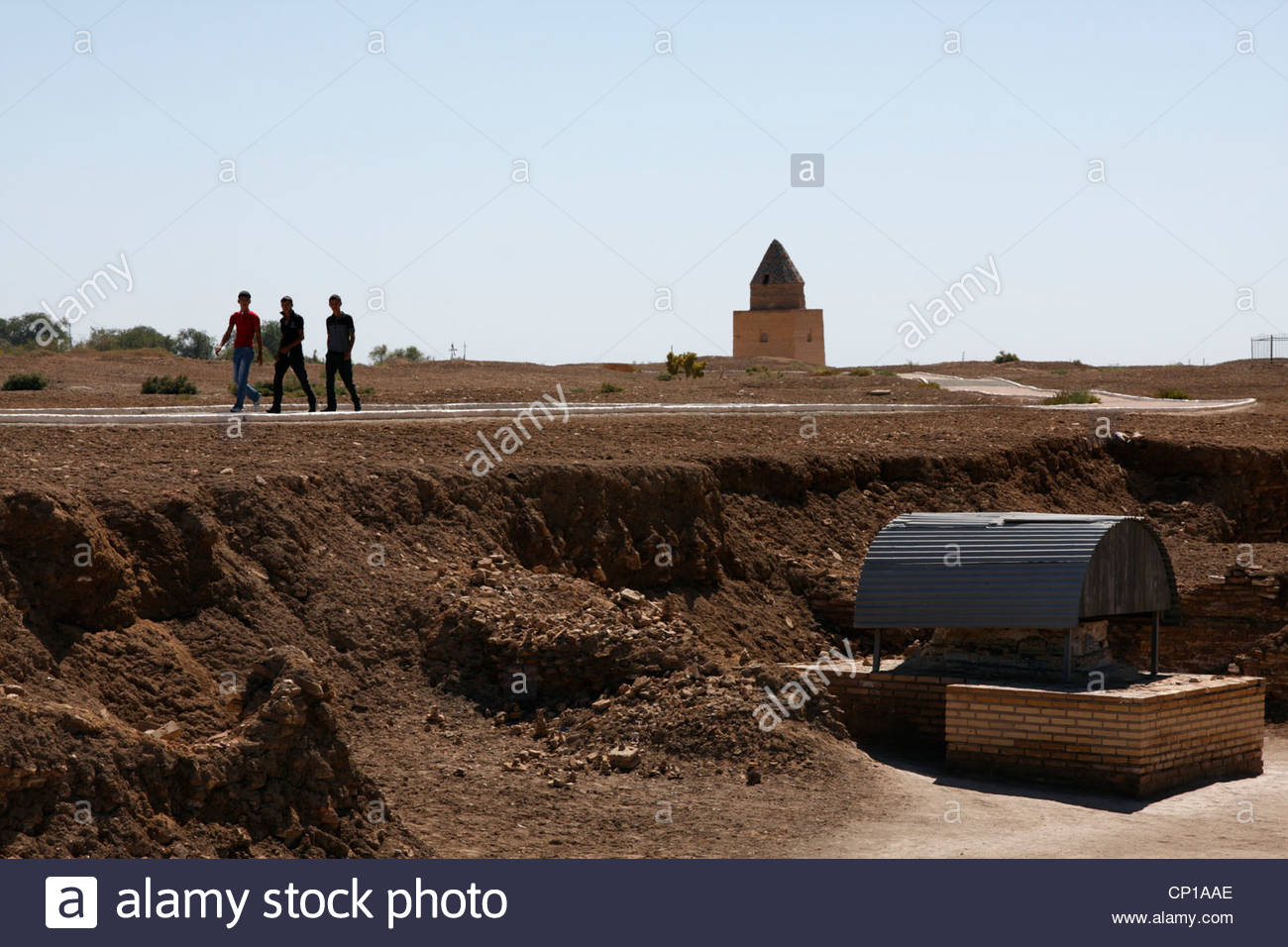 At the Kunya-Urgench site in Turkmenistan - Stock Image