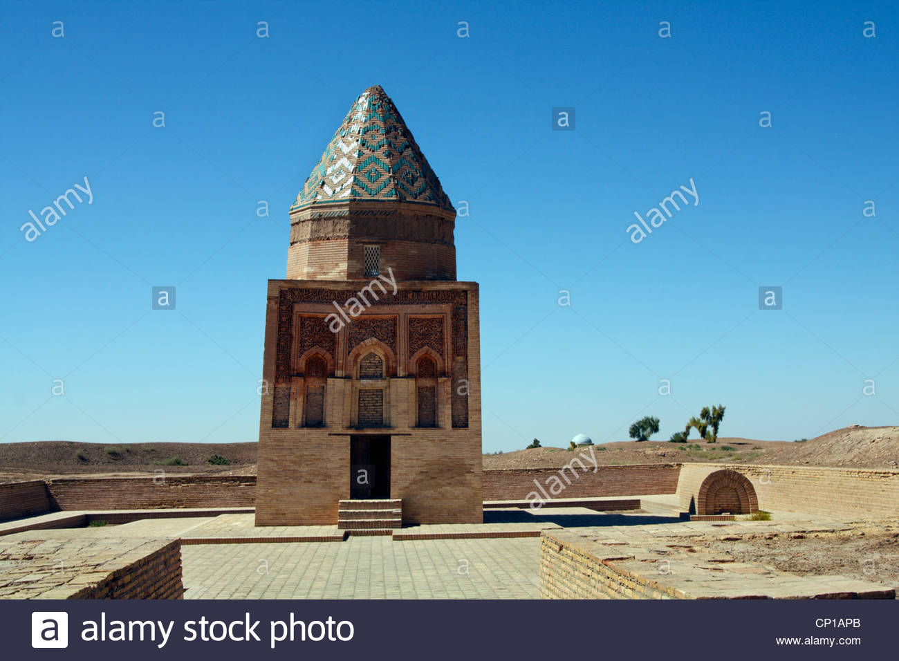 The 12th century Il-Arslan or Fakhr At-Din Razi mausoleum at Kunya-Urgench, Turkmenistan - Stock Image