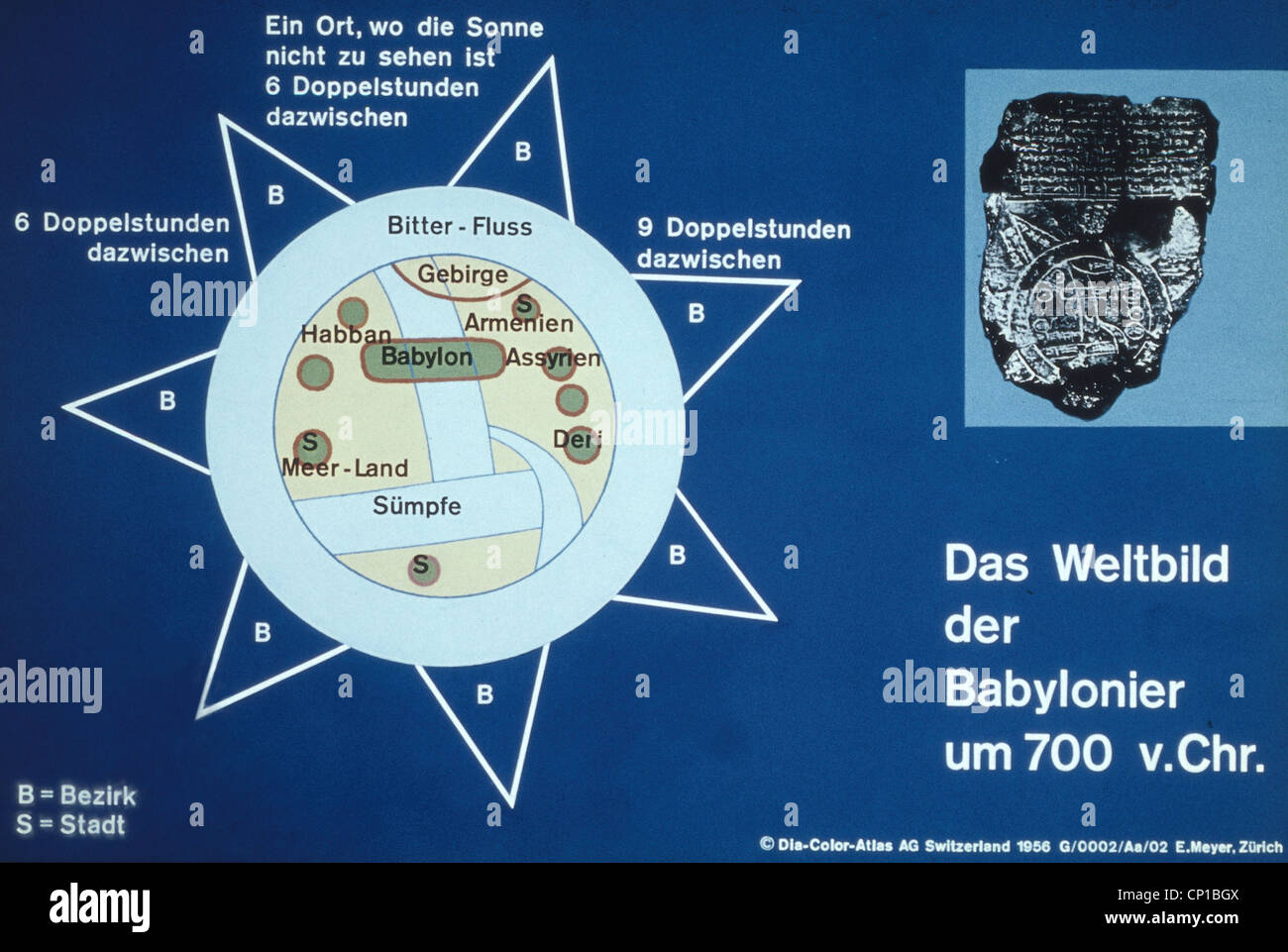 Babylonian World Map Stock Photos Babylonian World Map Stock