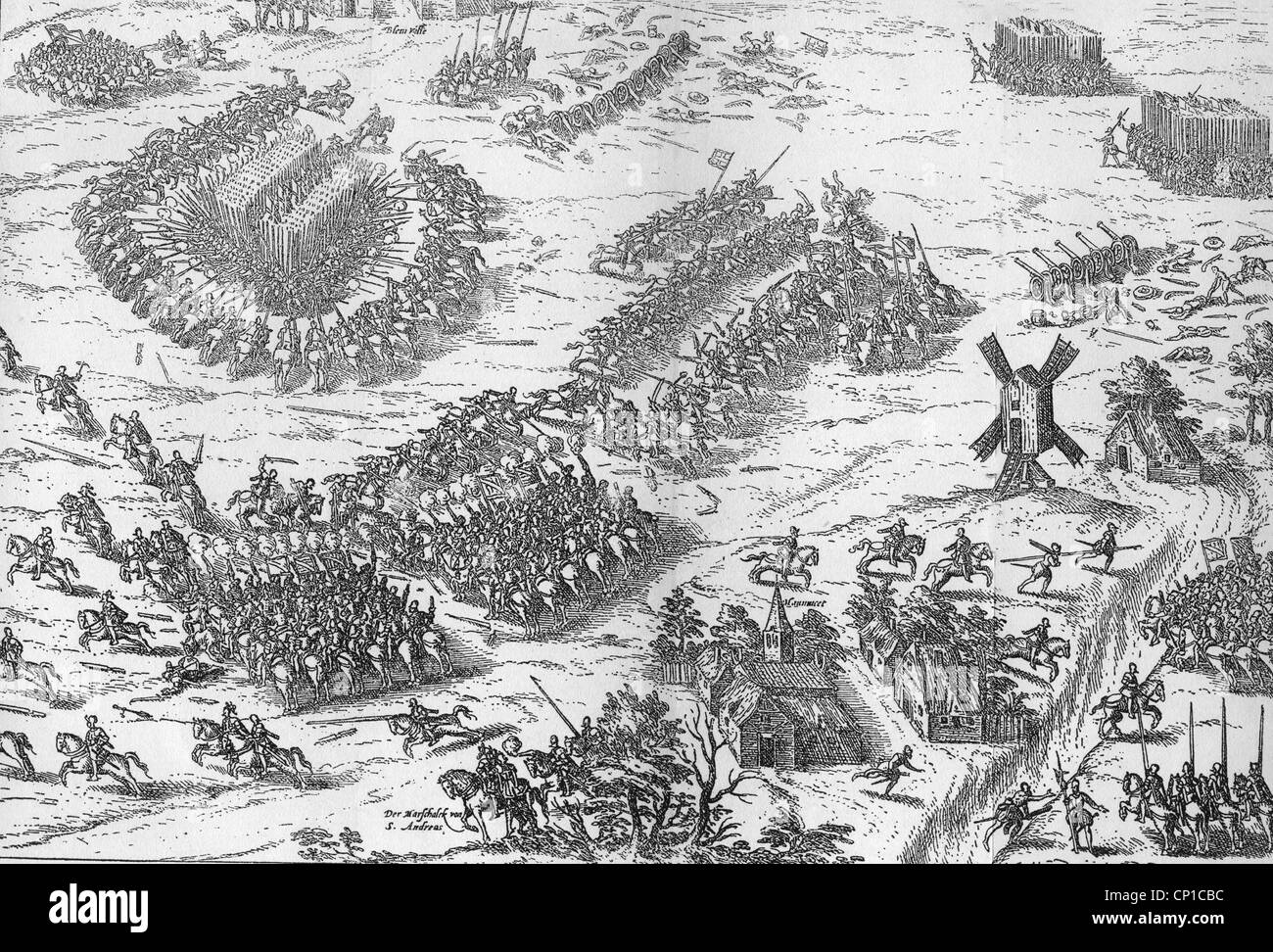 events, French Wars of Religion 1562 - 1598, first war 1562 - 1563, Battle  of Dreux, 19.12.1562, third encounter, death of Marshall Jacques d'Albon,  ...