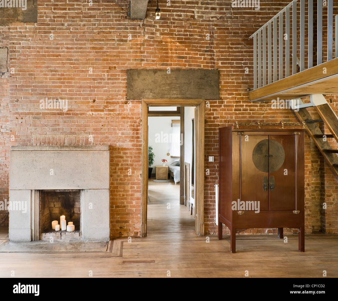 Conversion Of Old Brick Wall Building Into A Modern House