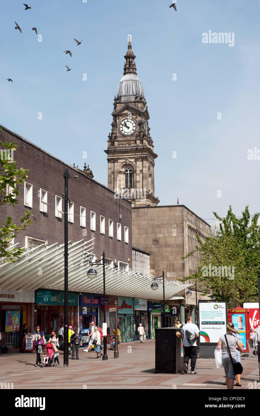 Bolton town centre - Stock Image
