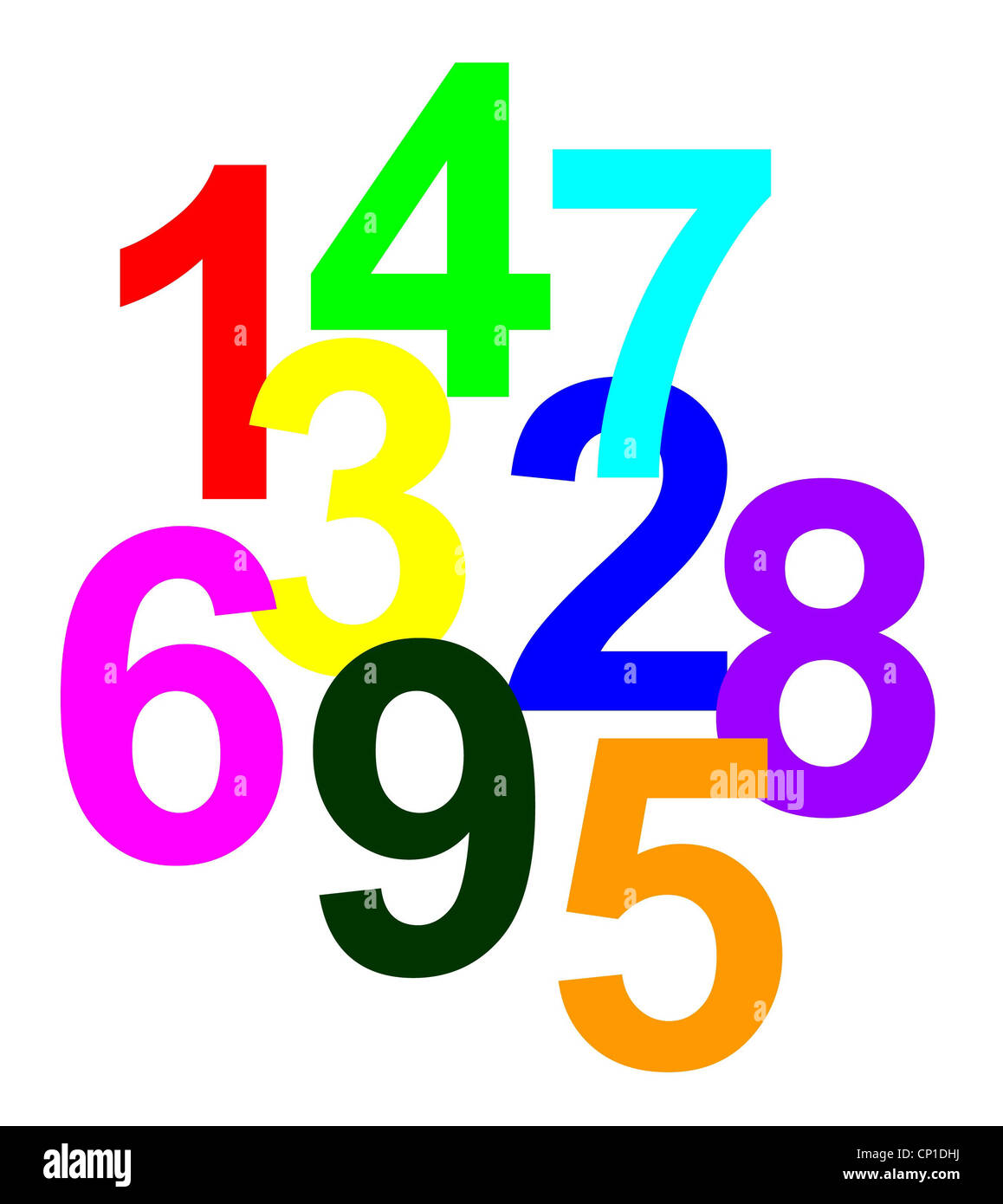 Graphic Of The Numbers 1 To 9 Stock Photos & Graphic Of The Numbers
