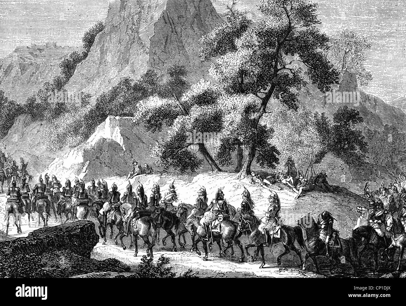 events, Peninsular War 1808 - 1814, French invasion of Spain in 1808, troops under the command of Joachim Murat - Stock Image
