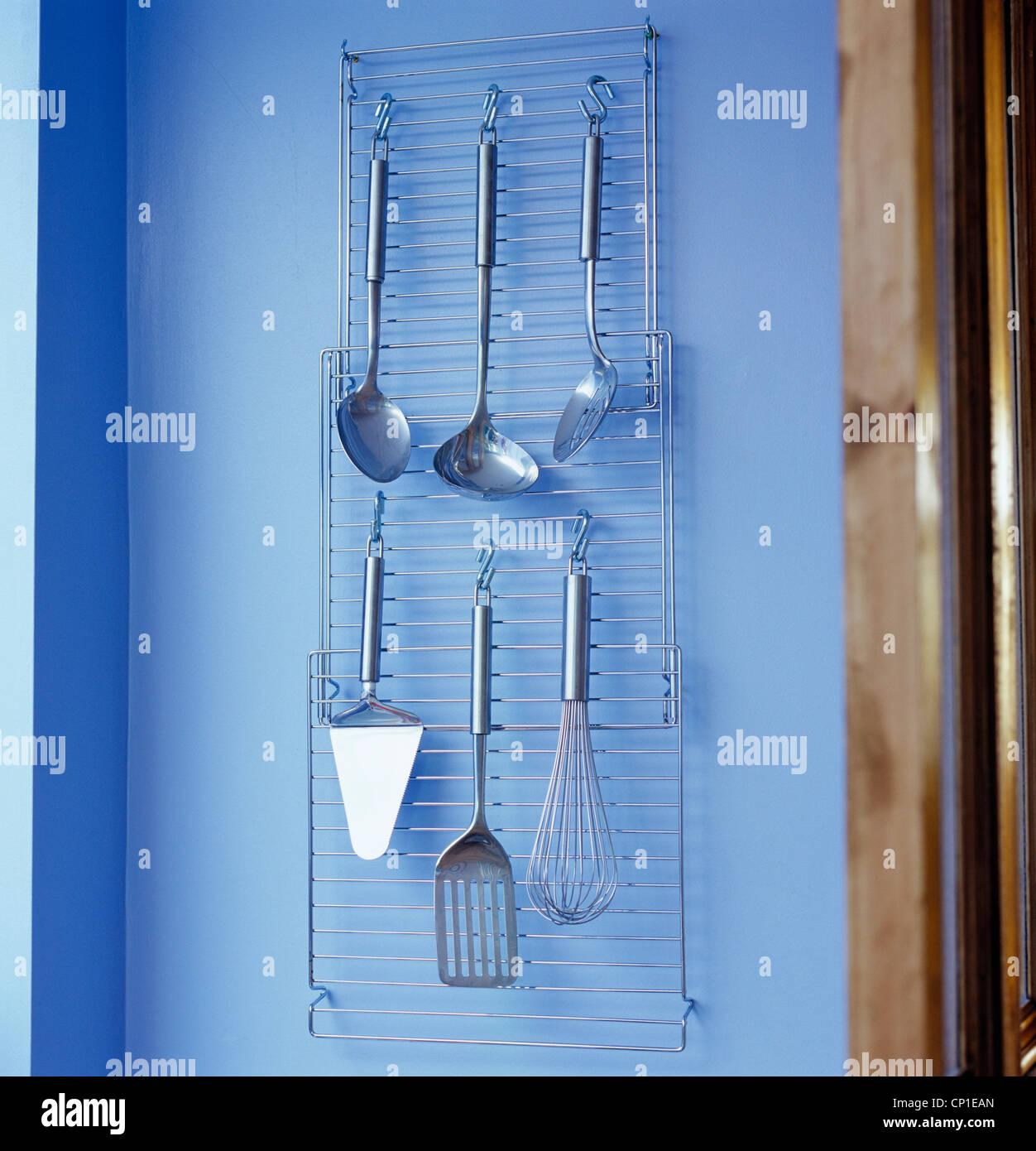 Kitchen Utensils On Rack Stock Photos & Kitchen Utensils On Rack ...