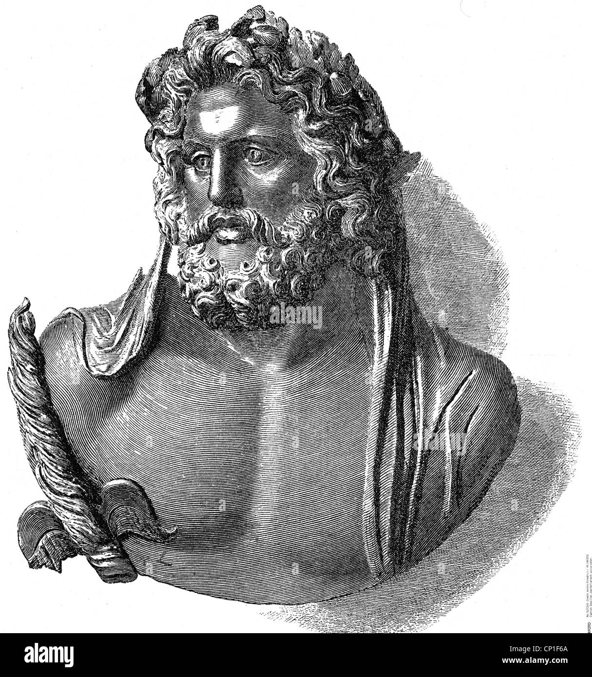 zeus latin jupiter greek divine king portrait zeus of stock