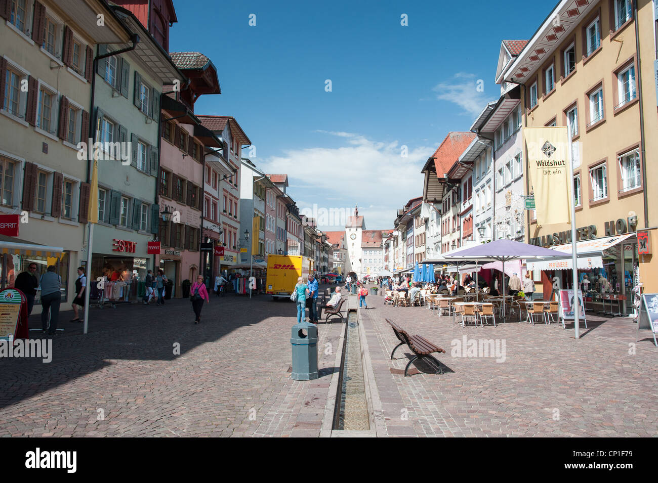 Historic city center of the town Waldshut, Germany, 2012 - Stock Image