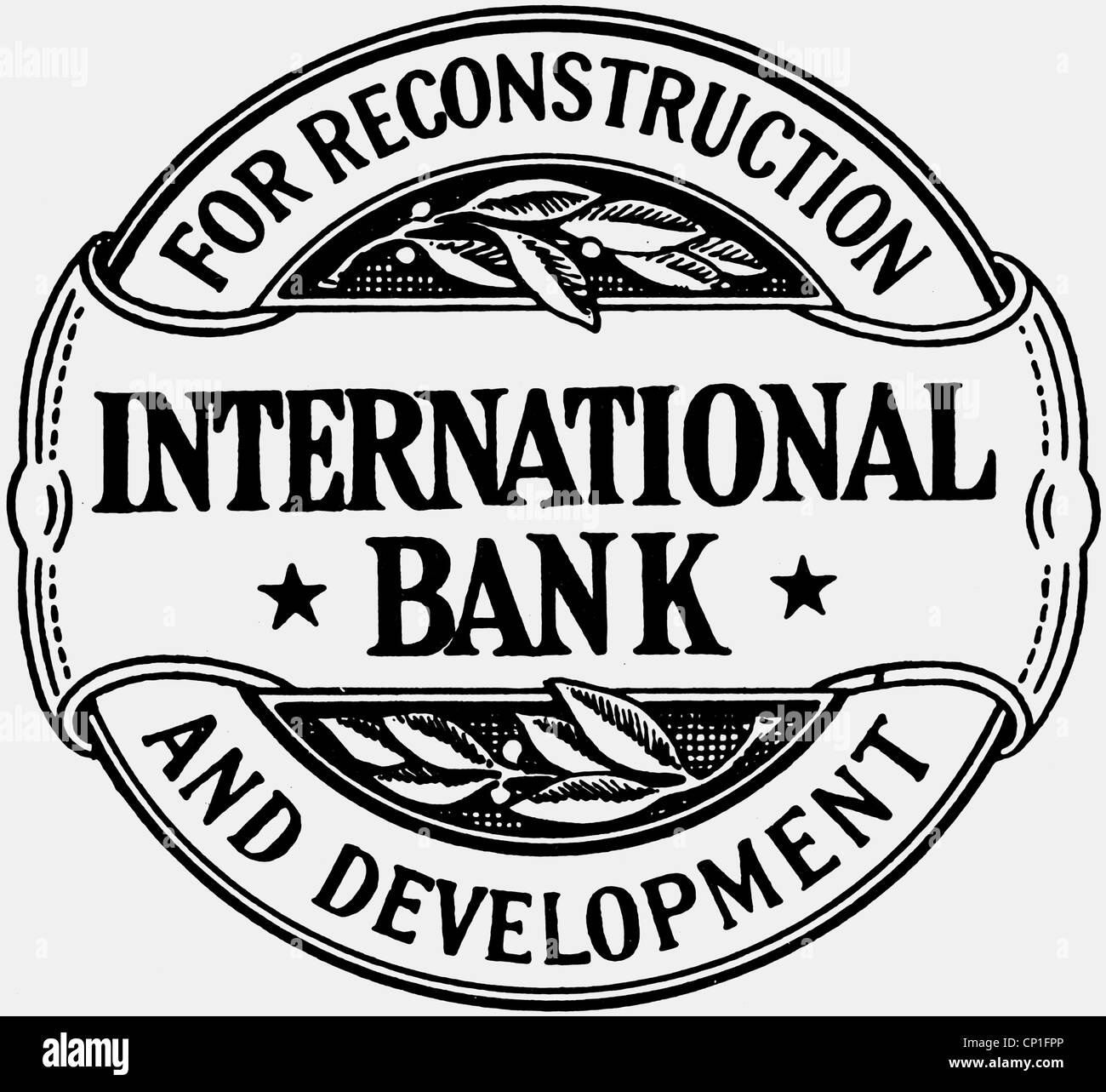 money, banks, International Bank for Reconstruction and Development, founded in 1944, Additional-Rights-Clearences Stock Photo