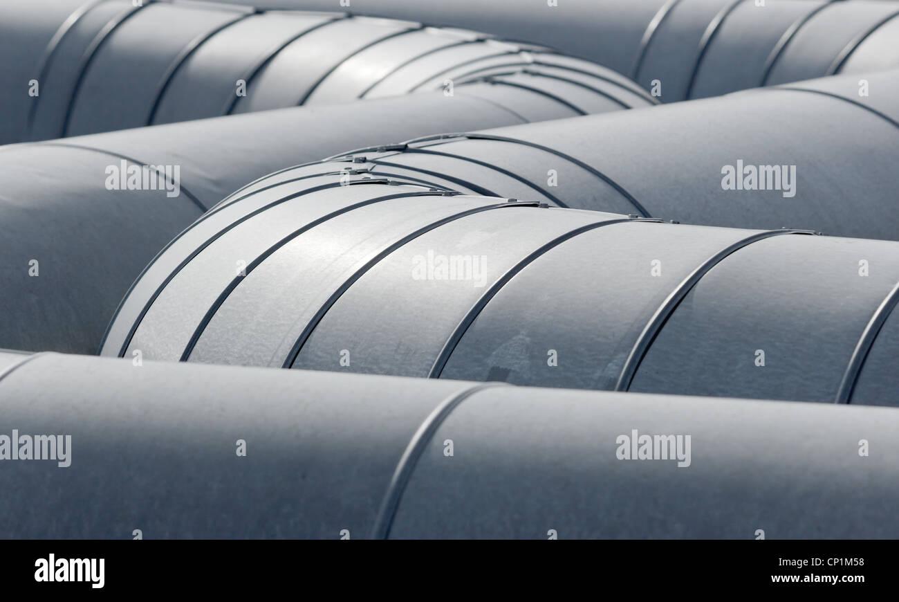 pipeline tubes - Stock Image