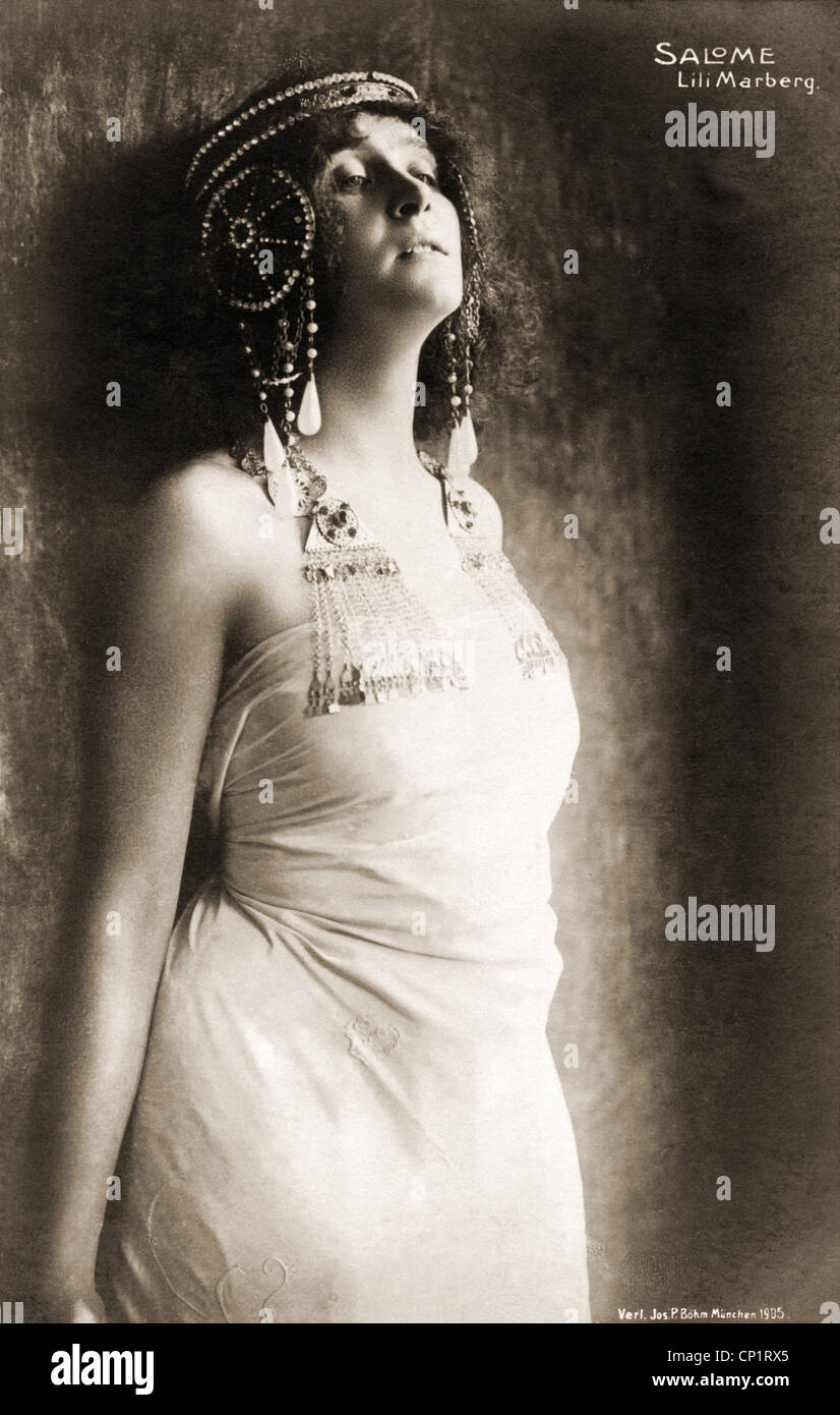 Marberg, Lili, 9.3.1878 - 8.4.1962, German actress, half length, as 'Salome' in the play by Oscar Wilde, - Stock Image