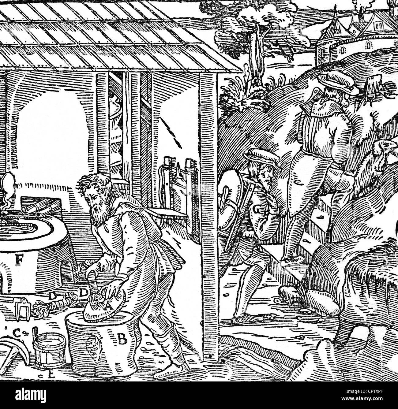de re metallica black and white stock photos images alamy Temple De Re mining mine taking out and transporting lead ore woodcut de re