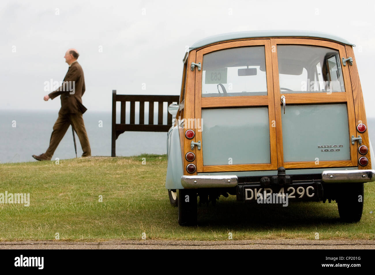 Morris Minor Traveller, Whitstable, Kent, England, UK - Stock Image